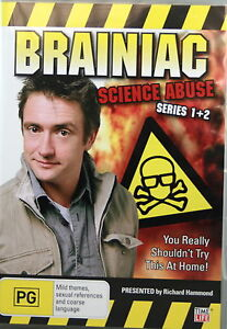 BRAINIAC SCIENCE ABUSE SERIES 1 + 2 * NEW SEALED REGION 4 DVD * RICHARD HAMMOND