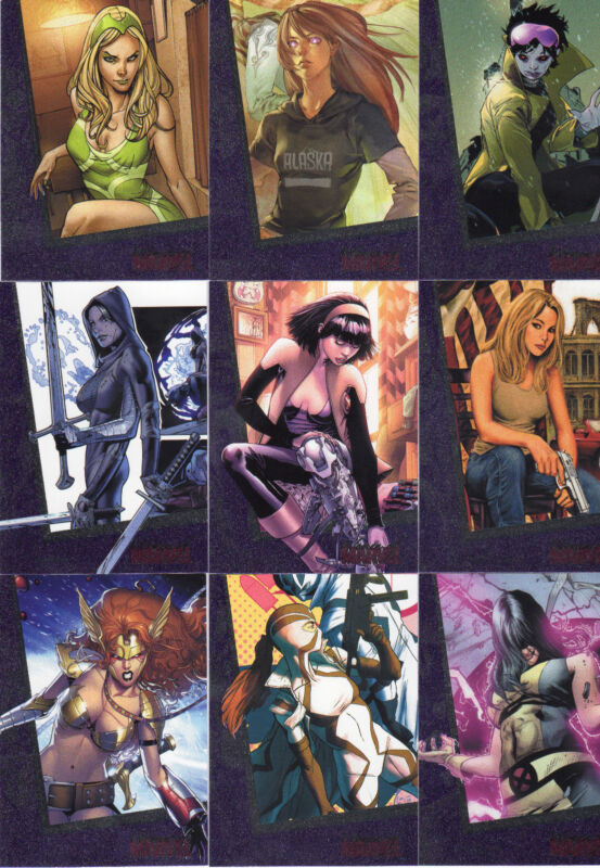 2013 The Woman of Marvel series 2 90 card FOIL base set  PROMO +P4