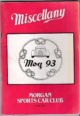 MISCELLANY MORGAN SPORTS CAR CLUB MAGAZINE JUNE 1993 POST FREE