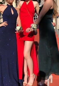 SEXY DESIGNER RED LONG DRESS WITH SLIT/OPENING PROM/FORMAL