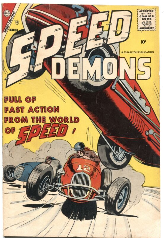 SPEED DEMONS #10-1958-SPRINT CAR COVER-MEXICO ROAD RACE-CHARLTON---RARE