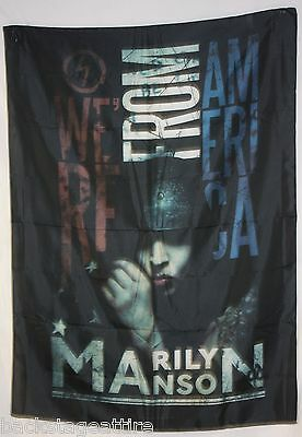 "MARILYN MANSON AMERICAN GRAFFITI 29""X43"" Cloth Fabric Poster Flag Tapestry-New!"