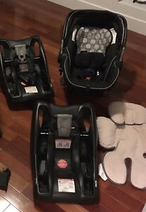 Britax infant car seat with two bases.