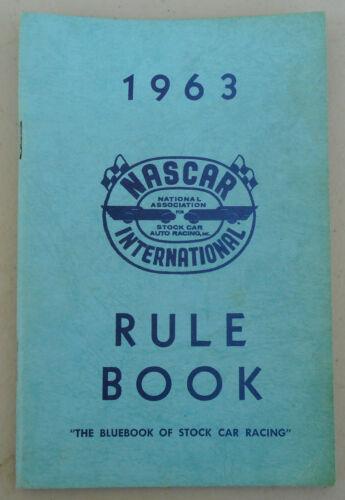 "1963 NASCAR International Rule Book ""The Bluebook of Stock Car Racing"""