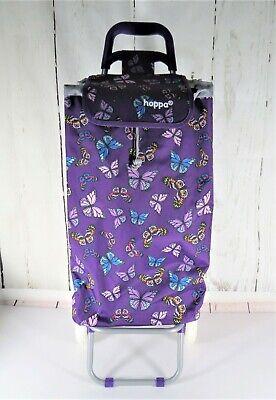 Hoppa Butterfly Shopping Trolley Bag Cart Grocery Dolly W Wheels Lightweight