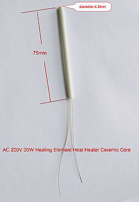 3pcs Soldering Iron 220v 20w Ceramic Core Heating Element 4.275mm