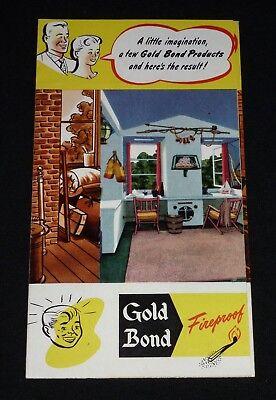 Vintage 1950's Gold Bond Fireproof Gypsum Wallboard Brochure - Falls Church, VA