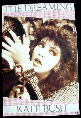 KATE BUSH The Dreaming Promo Poster Mint- USA 1982 ORIGINAL!! RARE