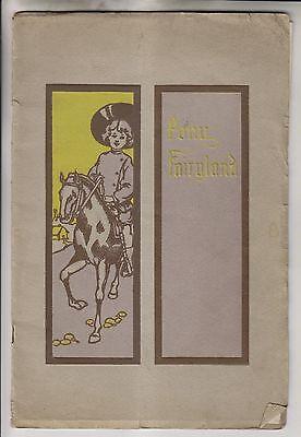 1910 BOOKLET - PONY FAIRYLAND - BY HEBER L JONES - CHILDREN & PONIES