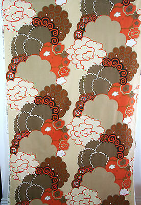 vintage 1960s Dekoplus abstract Pop Art print cotton interiors fabric