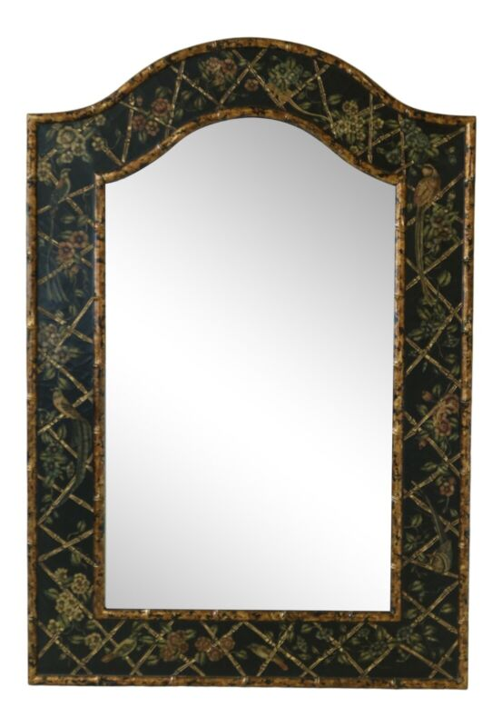 32392EC: Large Decorative Paint Decorated Wall Mirror