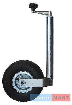 Trailer Caravan 48mm Med Duty Pneumatic 4 ply tyre Jockey Wheel no clamp