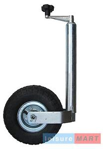 Trailer-Caravan-48mm-Med-Duty-Pneumatic-Jockey-Wheel