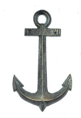 Anchor Decoration - Cast Iron Anchor Wall Plaque Nautical Beach Boat Theme Decor Bathroom Bar