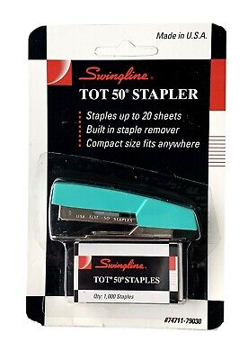 Vintage Swingline Tot 50 Mini Stapler With Staples 74711-79030 Green