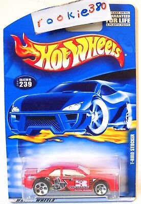 2001 Hot Wheels #239 ∞ T-BIRD STOCKER ∞ 1990's THUNDERBIRD RACE CAR RED HI # for sale  Shipping to Canada