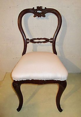 "19th C VICTORIAN ""BALLOON-BACK"" PARLOR/ VANITY/ DESK/ SIDECHAIR partial restored"