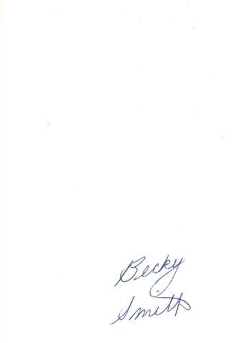 Becky Smith Autogramm signed 10x15 cm Karteikarte