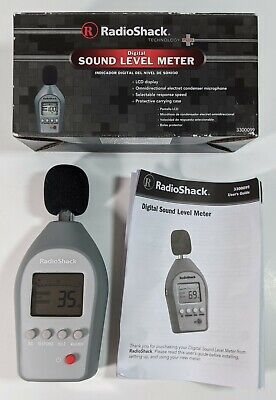 Radio Shack Electronic Digital Sound Level Meter 3300099 W Omnidirectional Mic