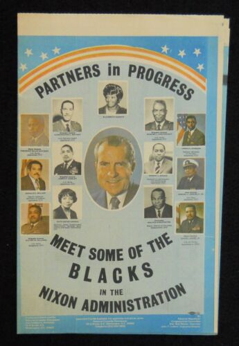 NIXON for President Black Lives Matter Administration 1972 campaign item