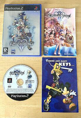 KINGDOM HEARTS II 2 SONY PS2 PLAYSTATION 2 DISNEY SQUARE ENIX