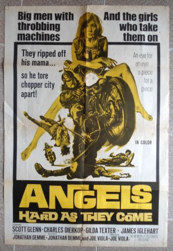 ANGELS HARD AS THEY COME One Sheet Italy/English Movie Poster 26X37.5 Film 1971