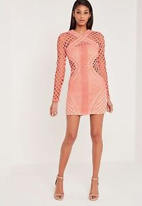 Miss Guided x Carli Bybel Coral Dress Size 0