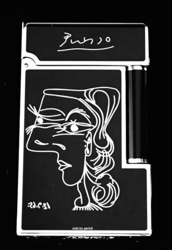 S.T. Dupont Ligne 2 Picasso Lighter, Black Lacquer, 16105 (016105) New In Box