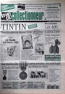 La vie du collectionneur n°84- tintin caniches médaille d'indochine cp mal-logé