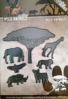 Wild Animals Africa Safari Tree Giraffe Lion Rhino Elephant Dies Amy Design