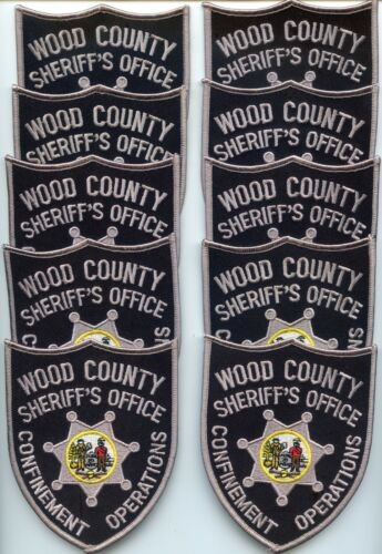 WOOD COUNTY WEST VIRGINIA CONFINEMENT OPS 10 Police Patches SHERIFF POLICE PATCH