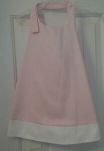 New W/Tags Bella Bliss Pink & White Lexi Halter Dress ~ Size 4