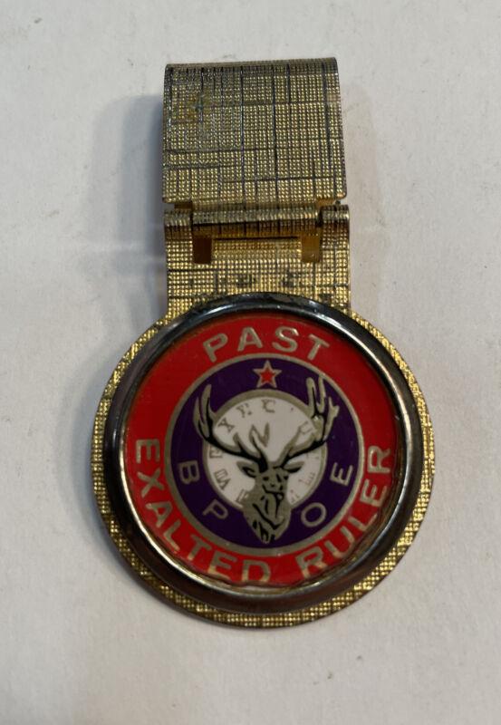 Vintage Order of Elks BPOE  Past Exalted Ruler BRASS Elk Emblem Paper Clip?