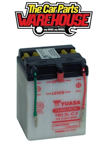 YB2.5L-C Genuine Yuasa Motorcycle ATV Quad Buggy Battery