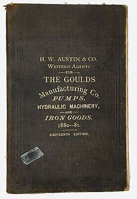 Goulds Manufacturing Co Pumps, Iron Goods, Bells, Fire Engines Catalog 1880