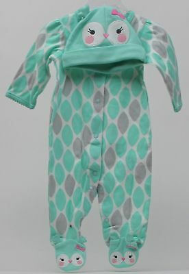 Halloween Infant Carter's Baby Girl Owl Aqua Sleeper Sleep Size Newborn NWT