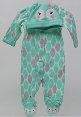 Halloween Infant Carter's Baby Girl Owl Aqua Sleeper Sleep Size Newborn NWT (Newborn Girl Halloween Costumes)