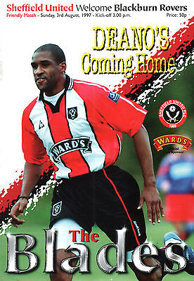 1997/98 Sheffield United v Blackburn Rovers, friendly - PERFECT CONDITION