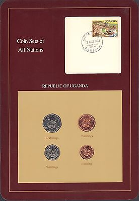 {BJSTAMPS} Coin Sets of All Nations Republic of Uganda BU 1987