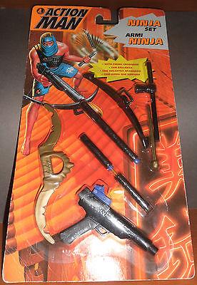 Ninja Weapon Action Set (ACTION MAN Armi Ninja Set Weapons Accessory Sword Crossbow Spada Balestra)
