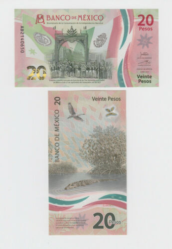 MEXICO P.NEW  20 PESOS 2021 NEW COMMEMORATIVE POLYMER  UNCIRCULATED