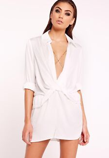 Peace + Love Missguided Satin Playsuit Size 6 BNWT