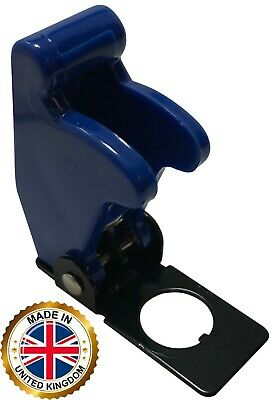 2 Blue Flip Up Toggle Switch Guard Safety Cover - Aircraft Style - Uk Made