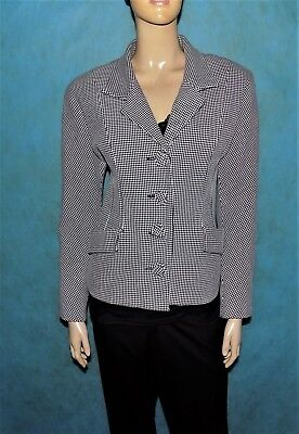 Jacket Irié Houndstooth White and Black Size: M Or 38 Fr Very Good Condition