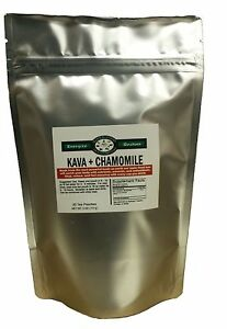 30 Kava & Chamomile Tea Bags - Stress, Anxiety, Relaxation