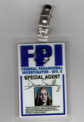 X-Files Tv Serien Id Badge-Agent Dana Scully Miniseries Kostüm Requisite (Dana Scully Kostüm)