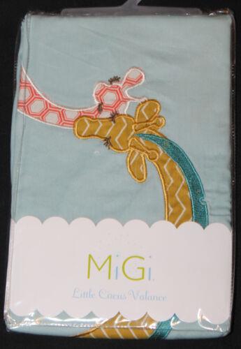 MiGi Little Circus Window Valance 44x15 giraffe aqua blue orange gold