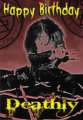 Halloween Heavy Metal Band (Happy Halloween Birthday BATHORY DEATH BLACK HEAVY METAL band PERSONALISED)