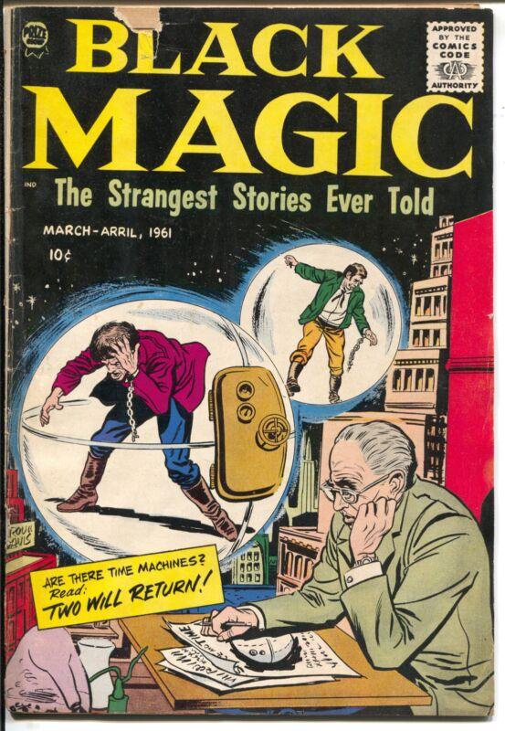 Black Magic Vol.8 #1 1961-Prize-Jack Kirby art-G/VG