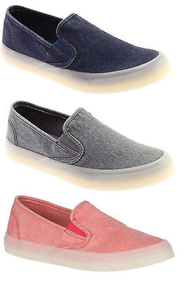 Sperry Women's Seaside Drink Slip On Canvas Boat Shoes Casual Flats Loafers NEW Sperry Canvas Shoes